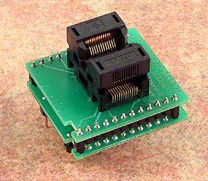 DIL24/QSOP24 ZIF 150mil Adaptör Soketi