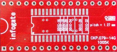 SOIC-32/28/24/20/18/16 > DIP-32 çevirici soket