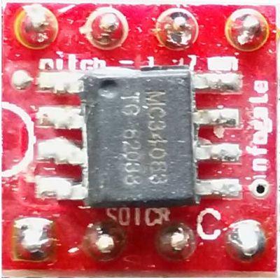 SOIC-8 > DIP-8 çevirici soket
