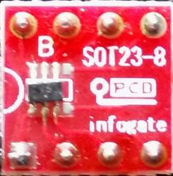 SOT-23-5/6 ve SOT23-8 - DIP-8 çevirici soket - Thumbnail