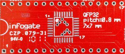 TQFP-32 > DIP-32 çevirici soket