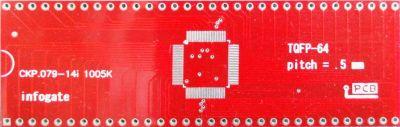 TQFP-64 > DIP-64 çevirici soket