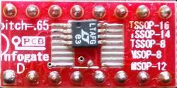 TSSOP-8/14/16 ve MSOP-8/12 > DIP-16 çevirici soket - Thumbnail