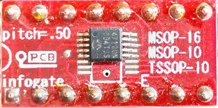 MSOP-10/16 ve TSSOP-10 > DIP-16 çevirici soket
