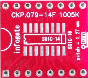 SOIC-8/14/16 > DIP-16 çevirici soket
