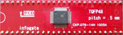 TQFP-48 > DIP-48 çevirici soket